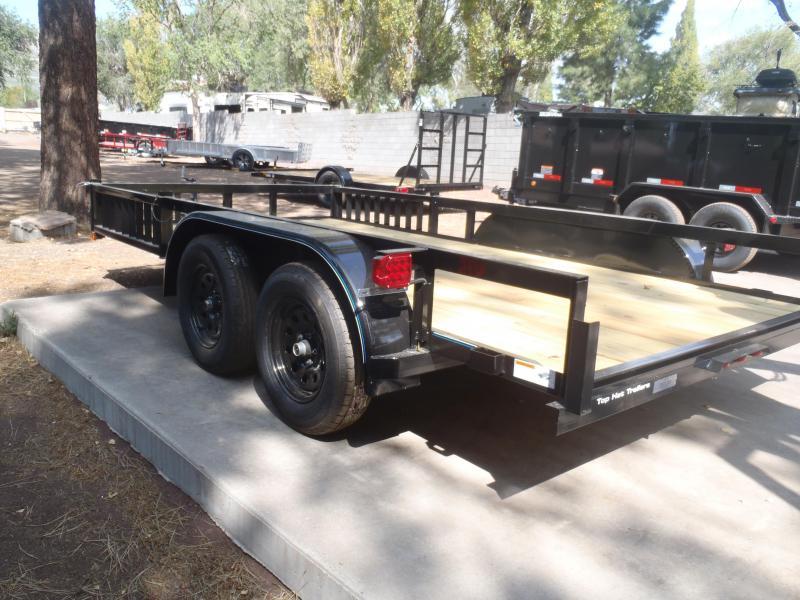 83X14 Tandem Axle Quad Ramps  Utility Trailer