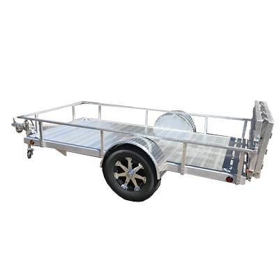 5X10 Aluminum Utility Trailer Angle Rail and Ramp Gate