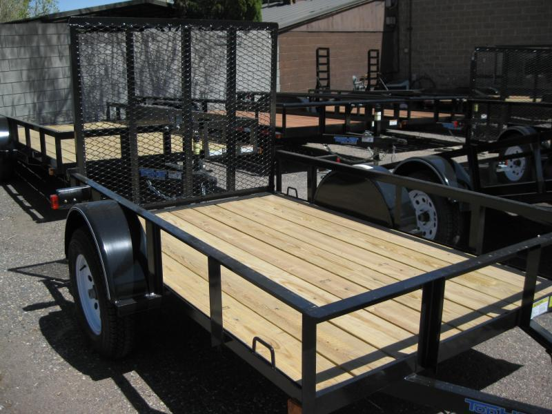 5X8 Utility Trailer Angle Rail and Ramp Gate