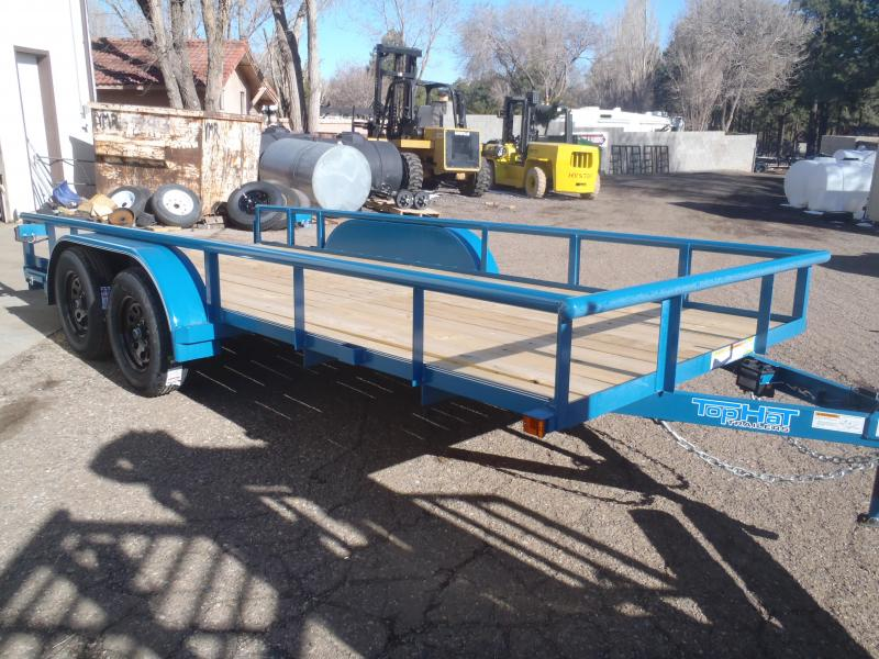 83X16 Utility Trailer Econo Pipe Rail and Ramps