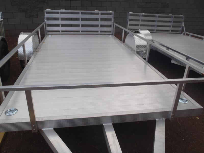 6X12 Aluminum Utility Trailer Angle Rail and Ramp Gate