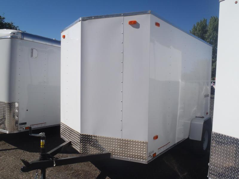 6x10 Equinox Enclosed Trailer Single Rear Door
