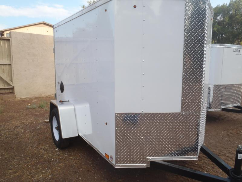 5x8 ST Enclosed Trailer V-Nose Double Doors