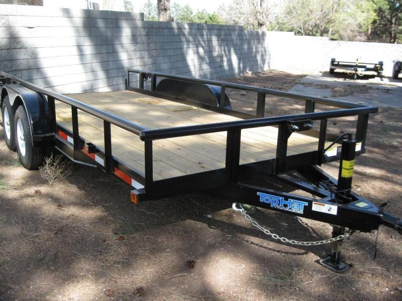 "83 X 16 10K Pipe Rail Trailer Utility Trailer 16"" Tires"