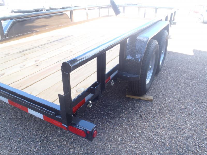 "83 X 16 10K Pipe Rail Trailer Utility Trailer 16"" Tires"