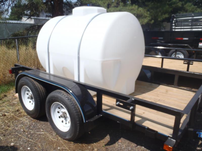 Water Trailer 5x10 Tandem Axle Angle Rail Utility Trailer