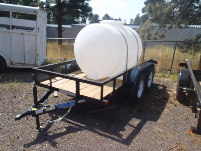 Water Trailer 5x10 Tandem Axle Angle Rail Utility Trailer