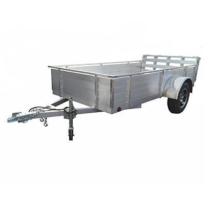 """5X10 Aluminum Utility Trailer 16"""" Solid Sides"""