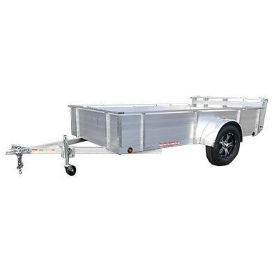 "6X10 Aluminum Utility Trailer 26"" solid sides Ramp Gate"