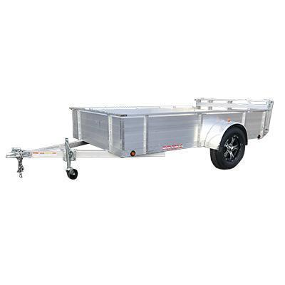 "6X12 Aluminum Utility Trailer 26"" solid sides Ramp Gate"