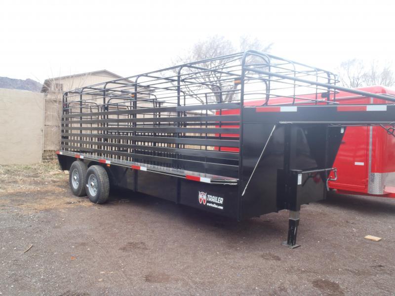 6.8X20 Gooseneck Stock Livestock Trailer