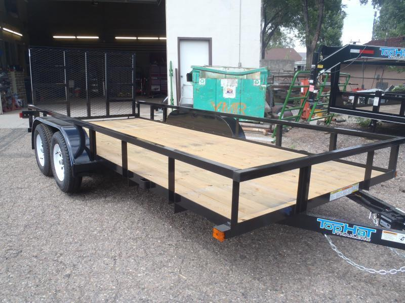 77X14 Light Duty Utility Trailer with Brakes and ramp