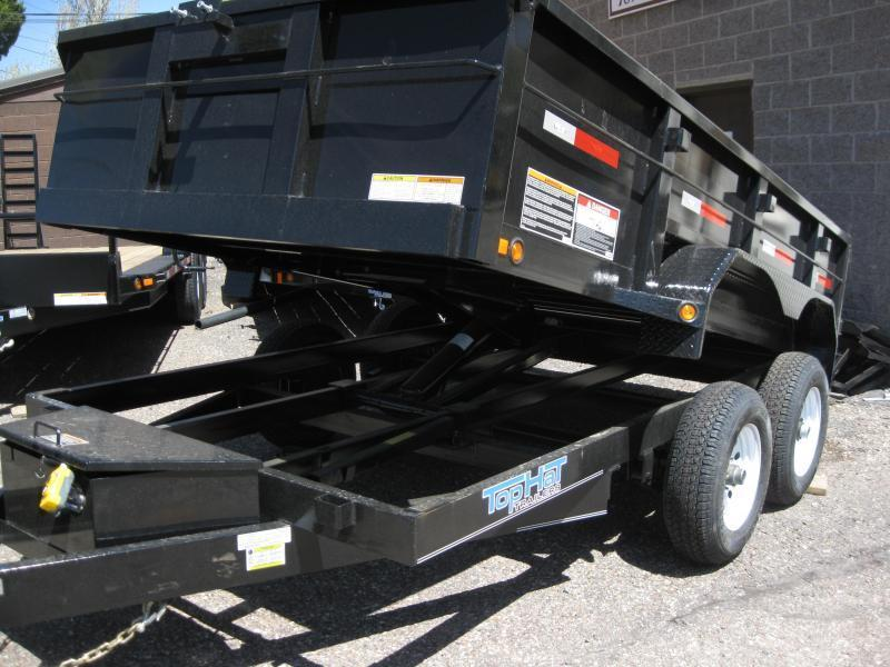 6.5X12 Dump Trailer 2' sides 10000# GVW ramps