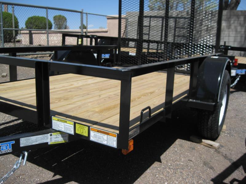 5X10 Utility Trailer Angle Rail and Ramp Gate