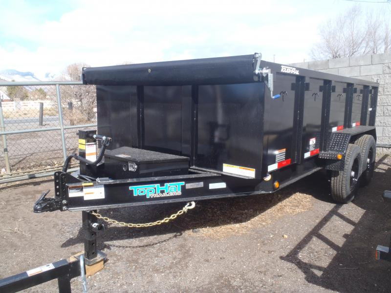7' X 14' 14000 lb G.V.W. Dump Trailer 3' Sides Low Profile