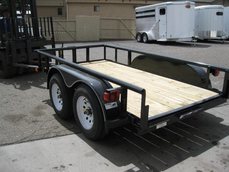 5x10 Tandem Axle Pipe or Angle Rail Utility Trailer