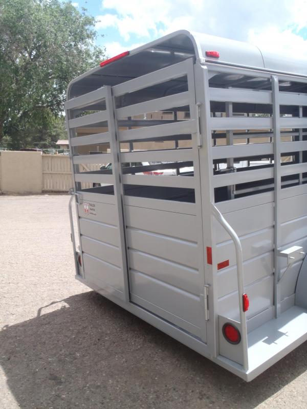 """6x16 All around Stock Trailer 6'6"""" Tall"""