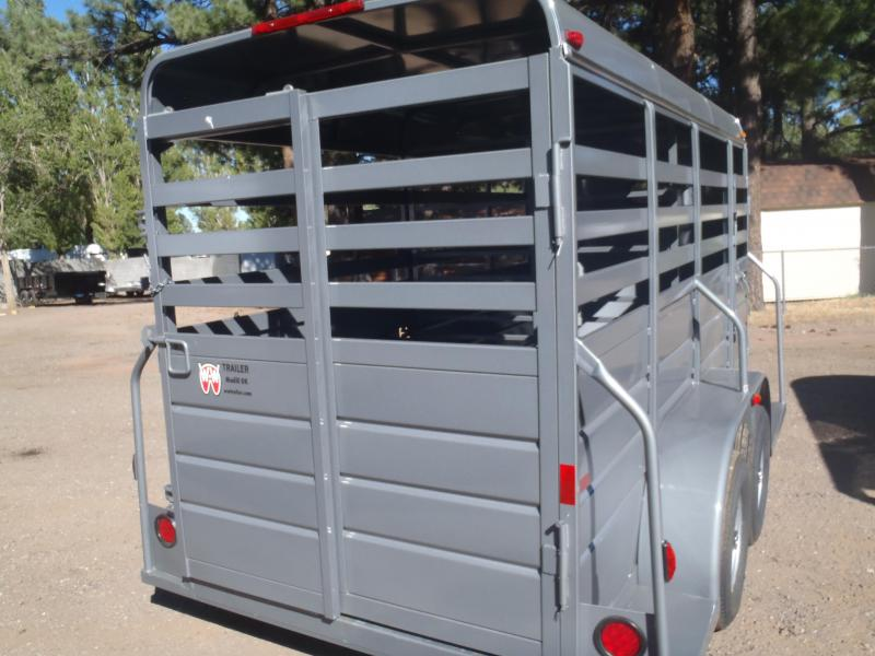 """6x16 All around Stock Trailer 6'6"""" Tall 4' Solid Sides"""