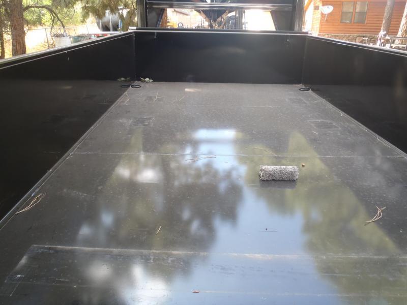 7' X 14'  2' Sides 14000 lb G.V.W. Gooseneck Dump Trailer