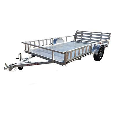 82X12 Aluminum Utility Trailer side load ramps and Ramp Gate