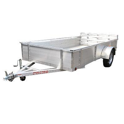 "6X12 Aluminum Utility Trailer 18"" solid sides Ramp Gate"