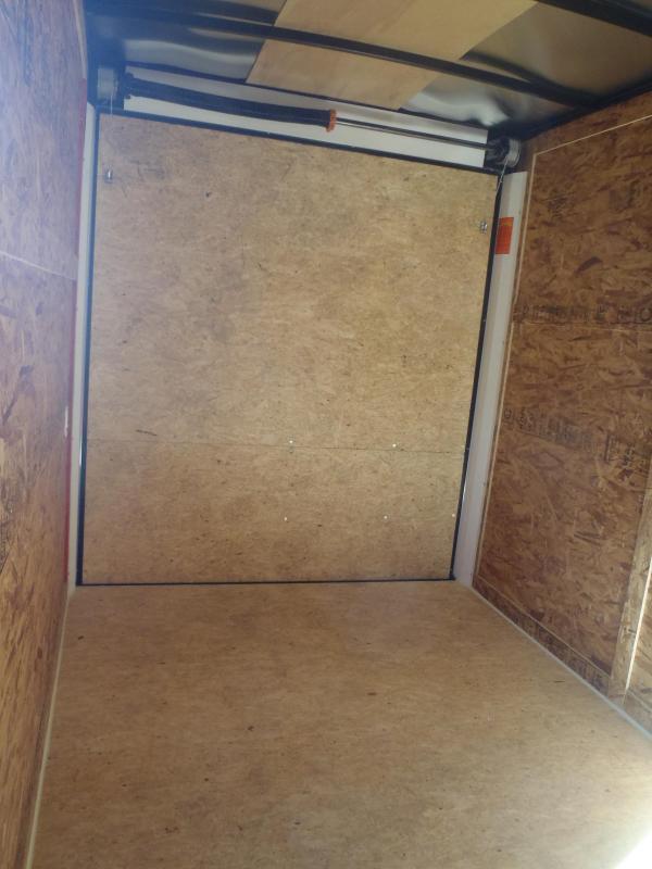 7x12 STLC V-Nose Cargo Ramp Side Door 7' Tall
