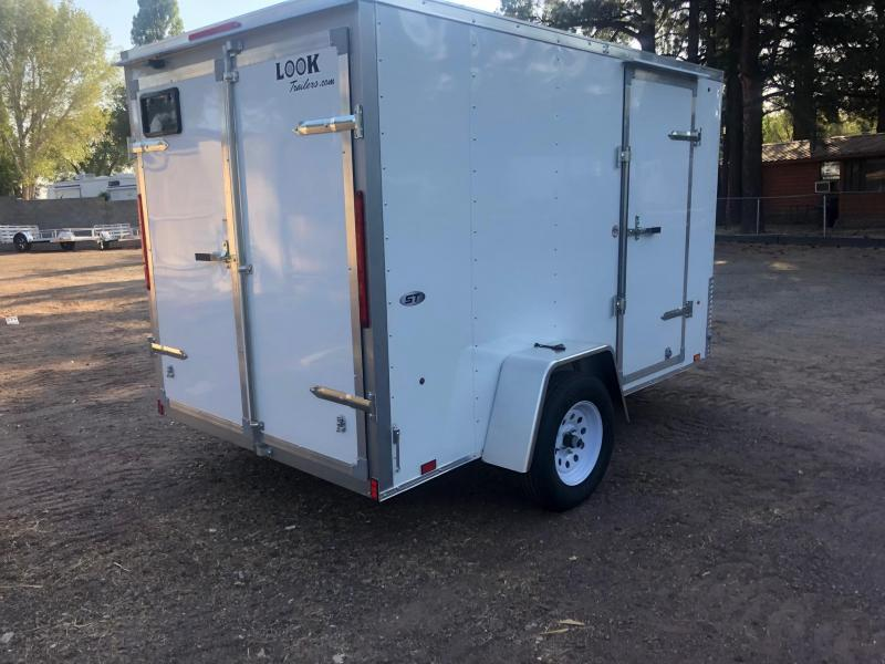 5x8 ST Enclosed Trailer Barn Doors