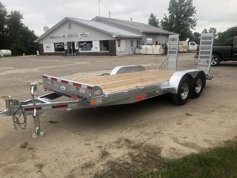 N&N Galvanized 18 foot 7 ton Equipment Trailer