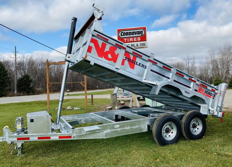 2021 N&N  82inch X14foot galvanized 14K Dump Trailer