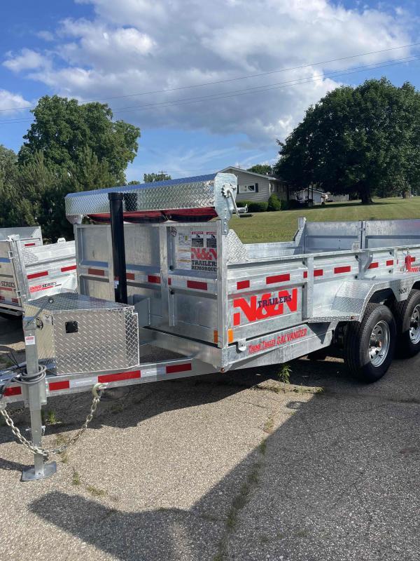 2021 N&N 6X12 foot 10K Galvanized Dump Trailer