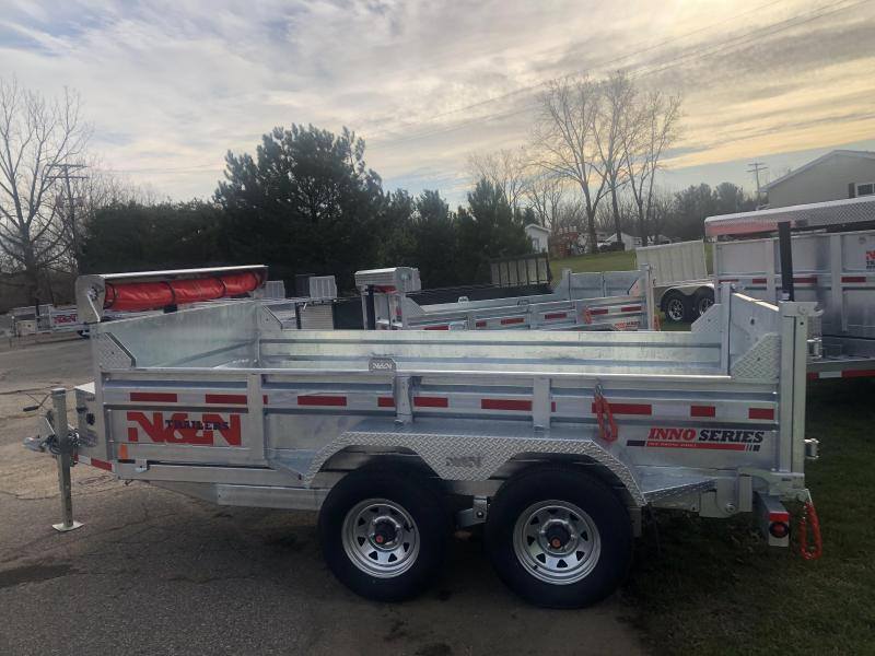 2021 N&N 6X12 foot 10K Galvanized Dump Trailer