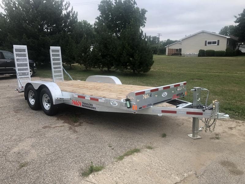 N&N Galvanized 18 foot 7 ton Equipment Trailer