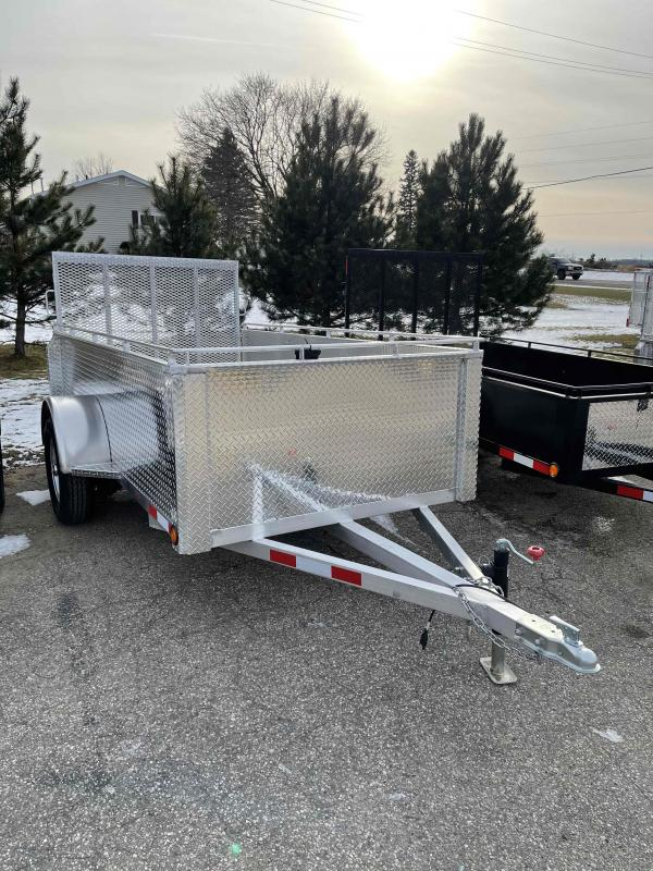2021 Aluminum 5X10 foot utility trailer with high sides