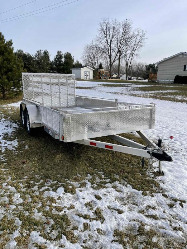 2021 80X14 foot utility trailer with side ramps