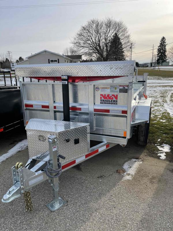 2021 N&N 6X10 foot 10K Galvanized Dump Trailer