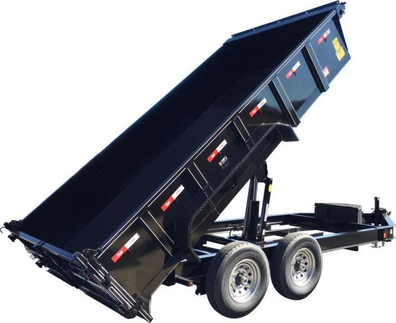 2021 Delta Manufacturing 7'x12' 14k Dump Trailer  W/Tarp