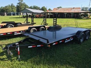"2021 Master Tow 82""x18' 10k Car Hauler Equipment Trailer Steel Floor"