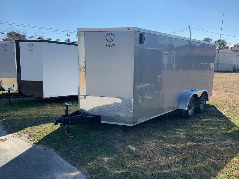 2020 Diamond Cargo 7x16 7k Enclosed Cargo Trailer