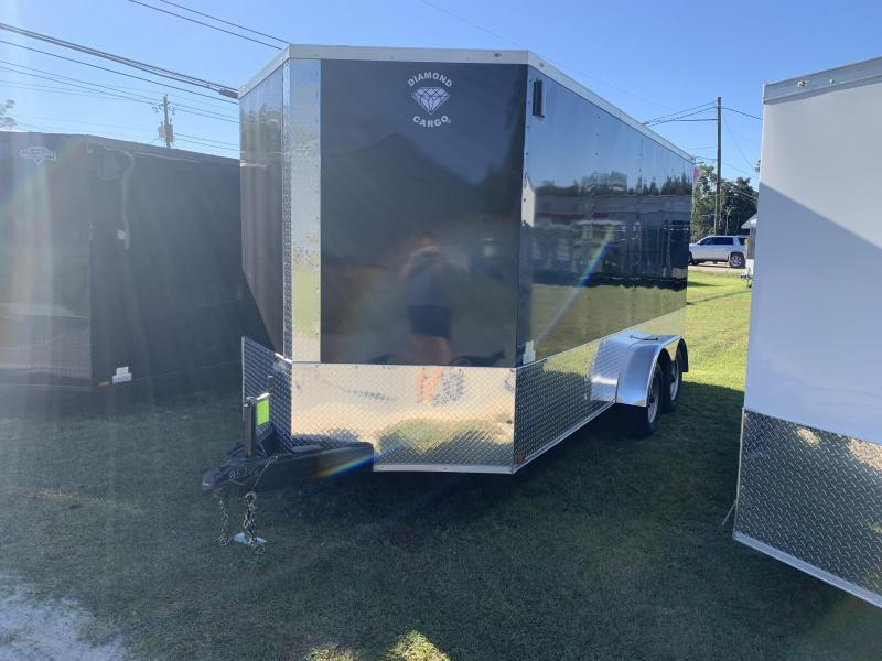 2021 Diamond Cargo 7x16 7k 7Tall Enclosed Cargo Trailer