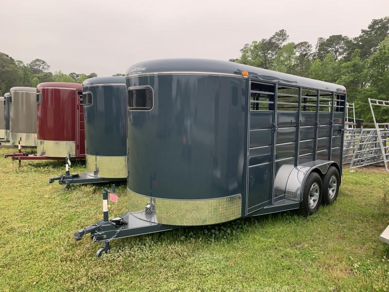 2021 Calico 16ft Stock Trailer W/Mats DARK RED