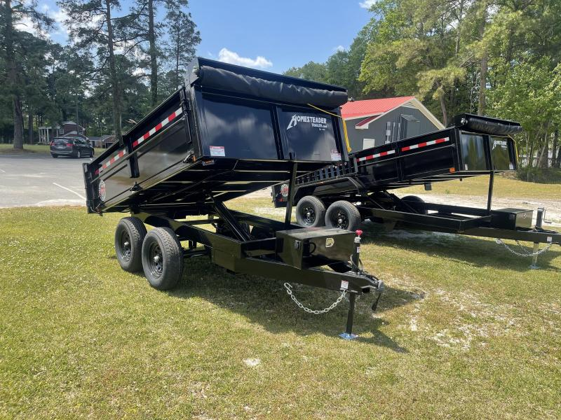2021 Homesteader 6'X10' Dump Trailer W/ Drop Side & Tarp
