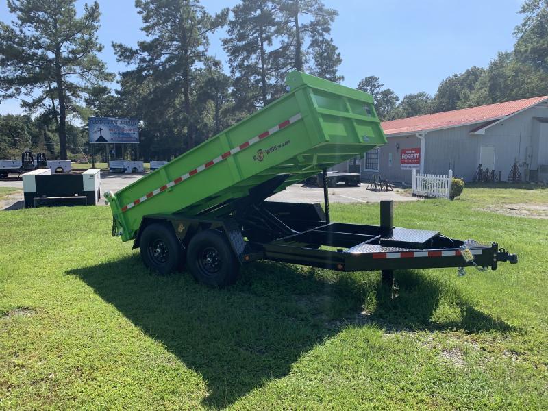 2021 B-Wise 7'x12' Dump W/Tarp 15.4 GVWR Dump Trailer