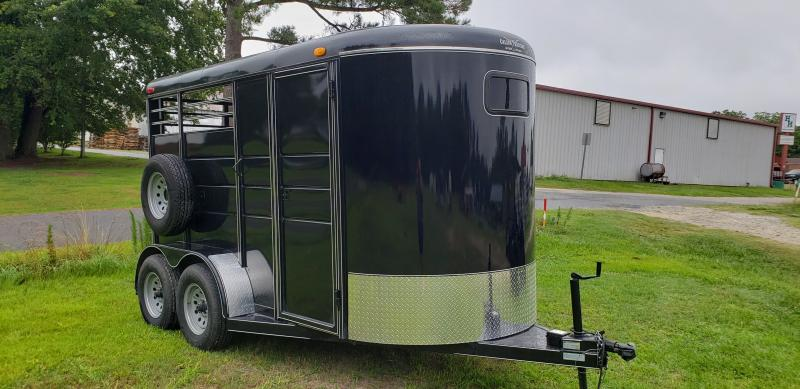 2019 Calico Trailers 2H BP Drop Windows Horse Trailer