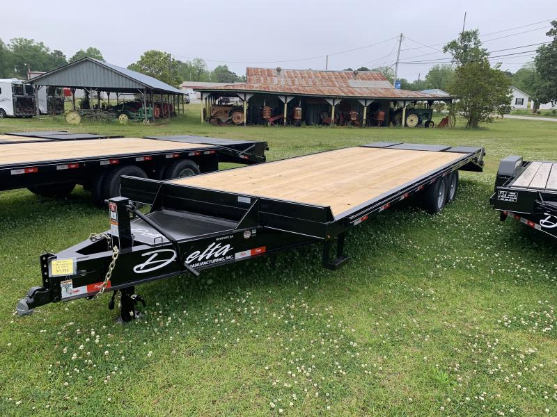 2021 Delta 25' 14k Equipment Trailer W/Center Pop Up Ramp