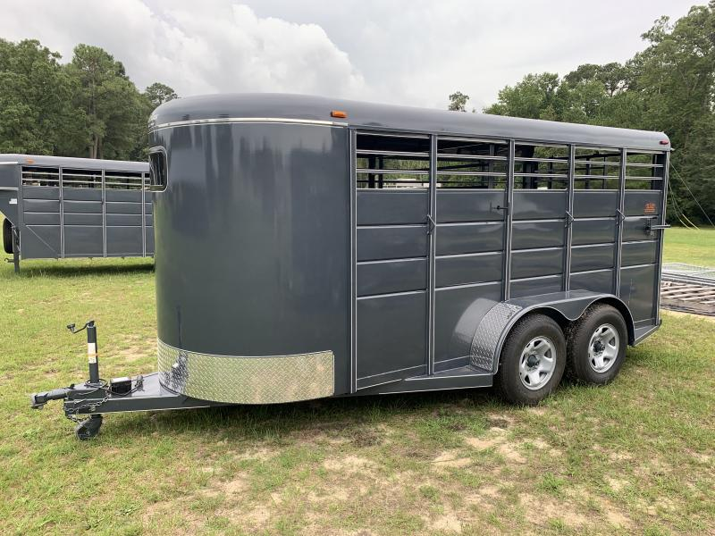 2021 Calico 16ft Stock Trailer W/Mats