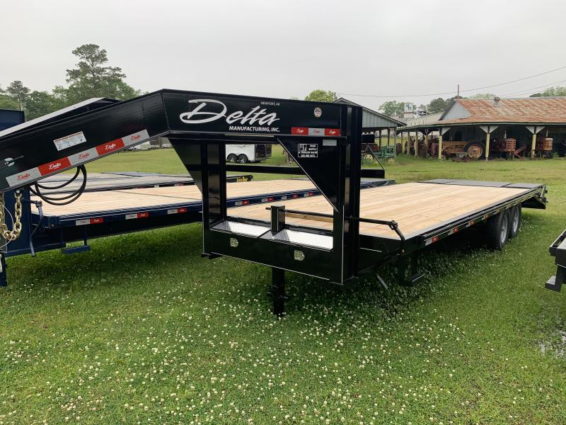 2021 Delta 25' 14k Equipment Trailer W/Center Pop Up Ramp