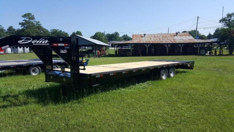 2020 Delta 28' 14k Equipment Trailer W/Center Pop Up Ramp