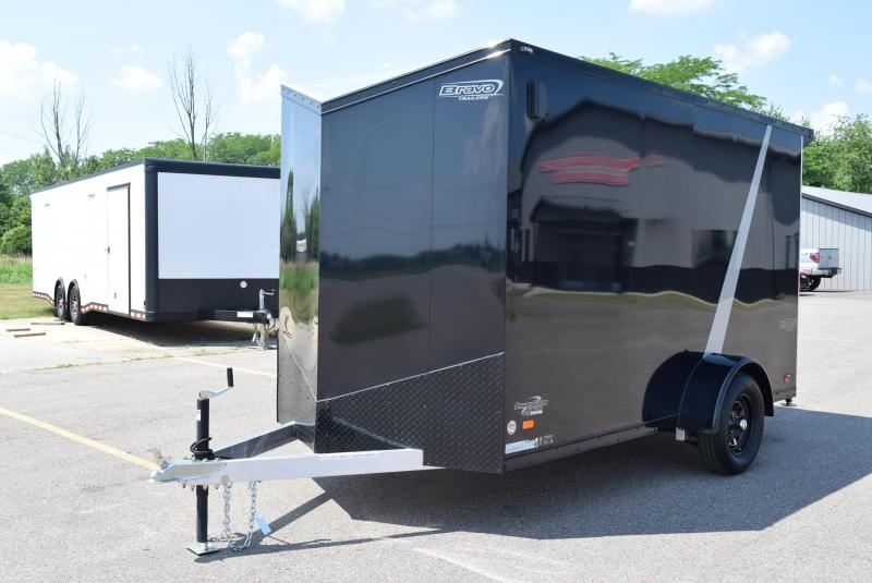2020 BRAVO 6x12 SILVER STAR ALUMINUM CARGO TRAILER *MIDNIGHT EDITION*
