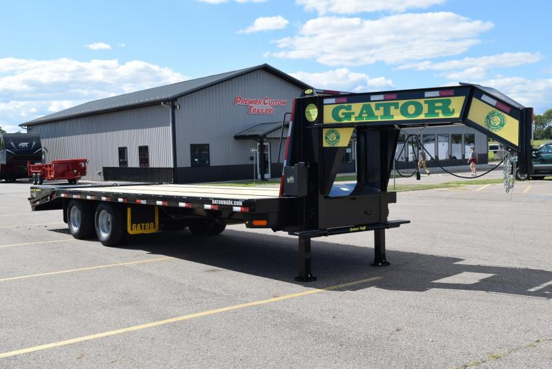2021 GATORMADE 20'+5' ELITE GOOSENECK HEAVY EQUIPMENT TRAILER w/ HYDRAULIC JACKS
