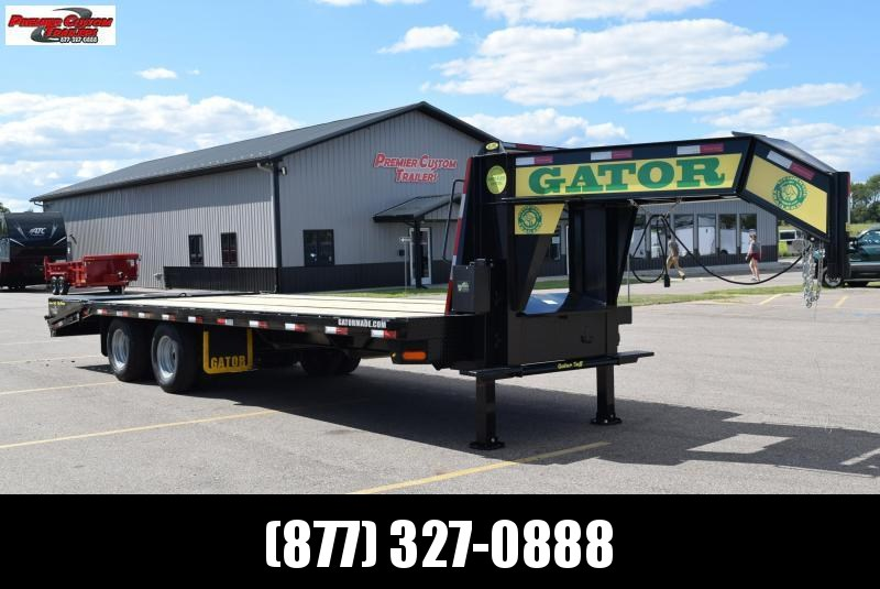 GATORMADE 20'+5' ELITE GOOSENECK HEAVY EQUIPMENT TRAILER w/ HYDRAULIC JACKS